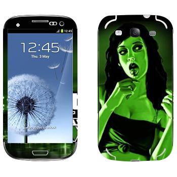 Виниловая наклейка «Зеленая девушка - GTA 5» на телефон Samsung Galaxy S3