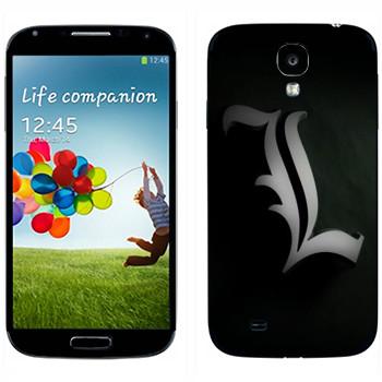 Виниловая наклейка «Death Note - L» на телефон Samsung Galaxy S4