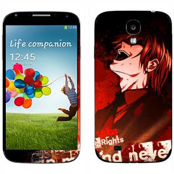 Виниловая наклейка «Death Note - Смех» на телефон Samsung Galaxy S4
