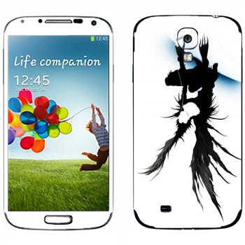 Виниловая наклейка «Death Note - Ужас» на телефон Samsung Galaxy S4