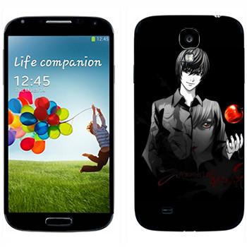Виниловая наклейка «Death Note пацан с яблоком» на телефон Samsung Galaxy S4