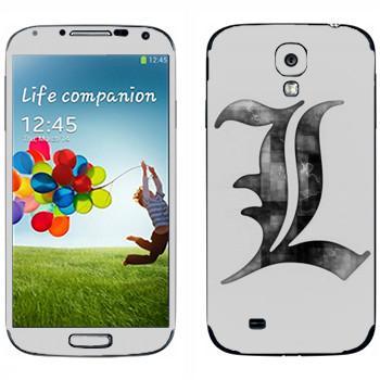 Виниловая наклейка «Death Note серый» на телефон Samsung Galaxy S4