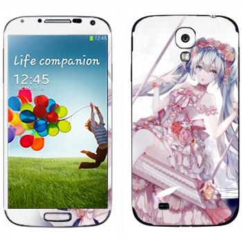 Виниловая наклейка «Мику Хацунэ - Вокалоид» на телефон Samsung Galaxy S4