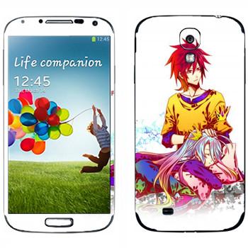 Виниловая наклейка «Парочка анимешная» на телефон Samsung Galaxy S4