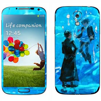 Виниловая наклейка «Синий экзорцист» на телефон Samsung Galaxy S4