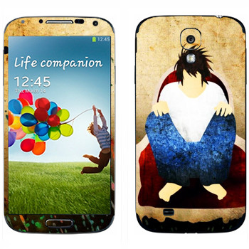 Виниловая наклейка «Тетрадь смерти  - арт» на телефон Samsung Galaxy S4
