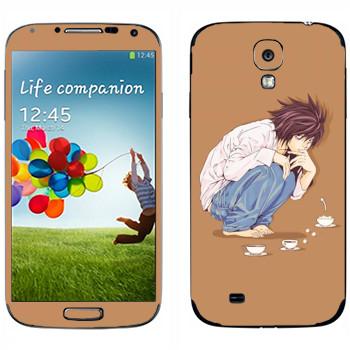 Виниловая наклейка «Тетрадь смерти  - Чаепитие» на телефон Samsung Galaxy S4