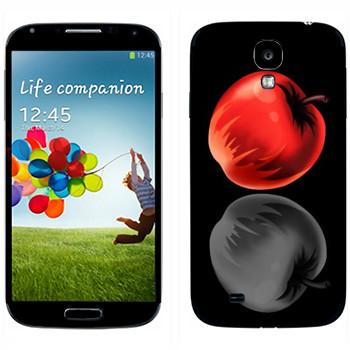 Виниловая наклейка «Тетрадь смерти - Яблоки» на телефон Samsung Galaxy S4