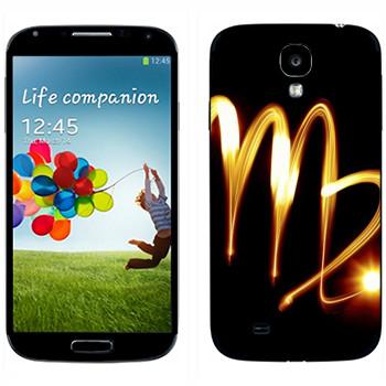 Виниловая наклейка «Знак Дева» на телефон Samsung Galaxy S4