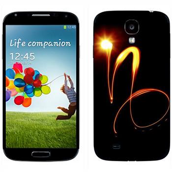 Виниловая наклейка «Знак Козерог» на телефон Samsung Galaxy S4