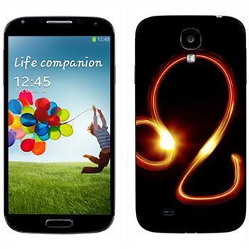Виниловая наклейка «Знак Лев» на телефон Samsung Galaxy S4