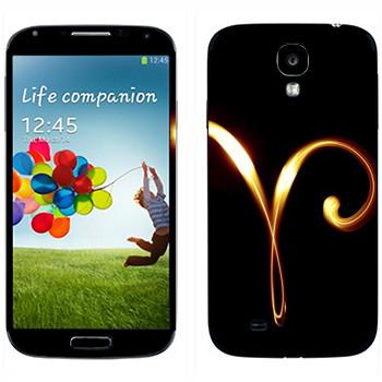 Виниловая наклейка «Знак Овен» на телефон Samsung Galaxy S4