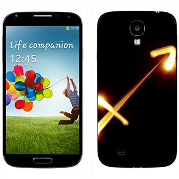 Виниловая наклейка «Знак Стрелец» на телефон Samsung Galaxy S4