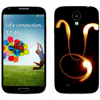 Виниловая наклейка «Знак Телец» на телефон Samsung Galaxy S4