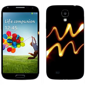 Виниловая наклейка «Знак Водолей» на телефон Samsung Galaxy S4