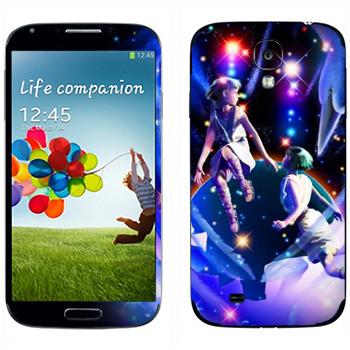Виниловая наклейка «Знак зодиака Близнецы» на телефон Samsung Galaxy S4