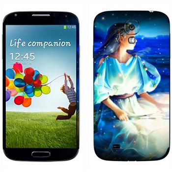 Виниловая наклейка «Знак зодиака Дева» на телефон Samsung Galaxy S4