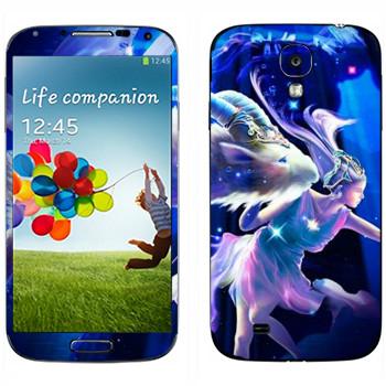 Виниловая наклейка «Знак зодиака Козерог» на телефон Samsung Galaxy S4