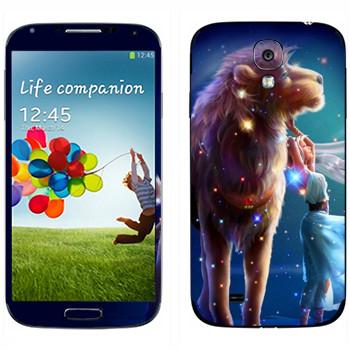 Виниловая наклейка «Знак зодиака Лев» на телефон Samsung Galaxy S4