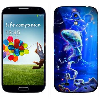 Виниловая наклейка «Знак зодиака Рыбы» на телефон Samsung Galaxy S4