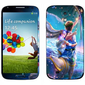 Виниловая наклейка «Знак зодиака Стрелец» на телефон Samsung Galaxy S4