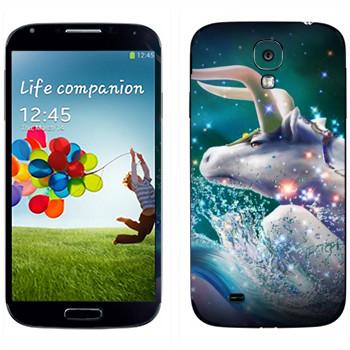 Виниловая наклейка «Знак зодиака Телец» на телефон Samsung Galaxy S4