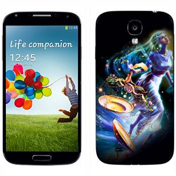 Виниловая наклейка «Знак зодиака Весы» на телефон Samsung Galaxy S4