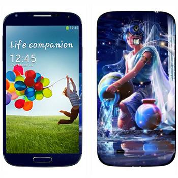 Виниловая наклейка «Знак зодиака Водолей» на телефон Samsung Galaxy S4