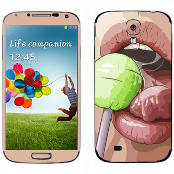 Виниловая наклейка «Чупа Чупс» на телефон Samsung Galaxy S4