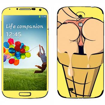 Виниловая наклейка «Девушка-мороженое» на телефон Samsung Galaxy S4