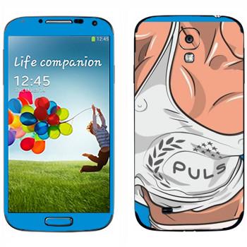 Виниловая наклейка «Маечка Puls» на телефон Samsung Galaxy S4