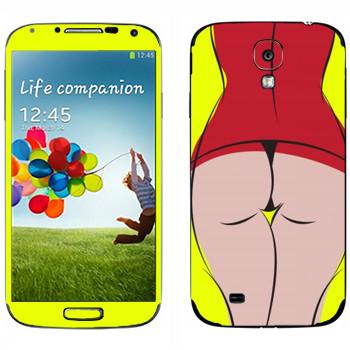 Виниловая наклейка «Вид сзади» на телефон Samsung Galaxy S4
