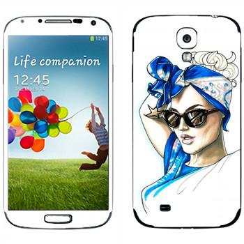 Виниловая наклейка «Знаменитость» на телефон Samsung Galaxy S4