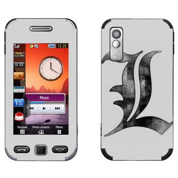 Виниловая наклейка «Death Note серый» на телефон Samsung S5230