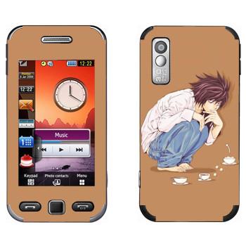 Виниловая наклейка «Тетрадь смерти  - Чаепитие» на телефон Samsung S5230