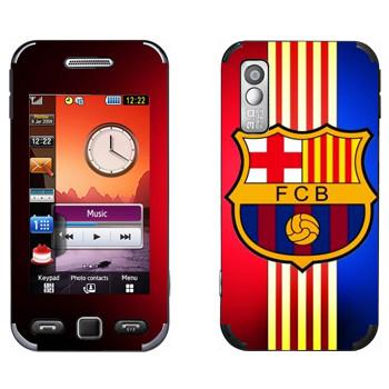 Виниловая наклейка «Barcelona stripes» на телефон Samsung S5230