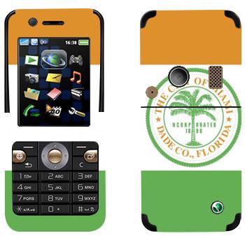 Виниловая наклейка «The City of Miami» на телефон Sony Ericsson K530i