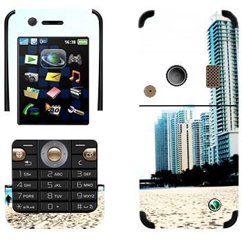Виниловая наклейка «Белоснежный пляж Майами» на телефон Sony Ericsson K530i