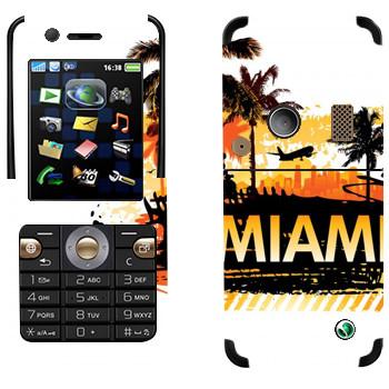 Виниловая наклейка «Горячие Майами» на телефон Sony Ericsson K530i
