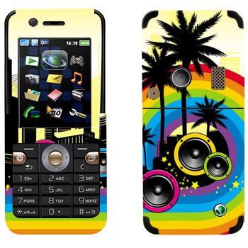 Виниловая наклейка «Музыкальный Майами» на телефон Sony Ericsson K530i