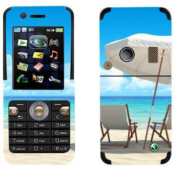Виниловая наклейка «На пляже Майами» на телефон Sony Ericsson K530i