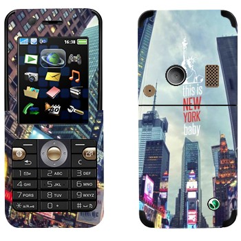 Виниловая наклейка «Нью-Йорк Таймс-сквер» на телефон Sony Ericsson K530i