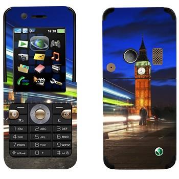 Виниловая наклейка «Ночной Биг Бен в Лондоне» на телефон Sony Ericsson K530i