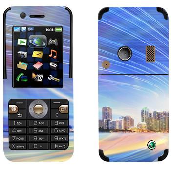 Виниловая наклейка «Огни над Майами» на телефон Sony Ericsson K530i