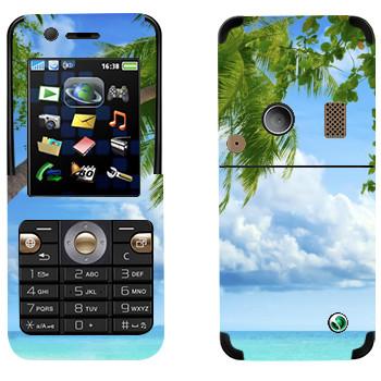 Виниловая наклейка «Пальма на пляже Майами» на телефон Sony Ericsson K530i