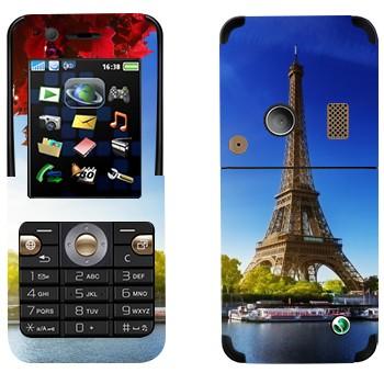 Виниловая наклейка «Париж - Эйфелева башня» на телефон Sony Ericsson K530i