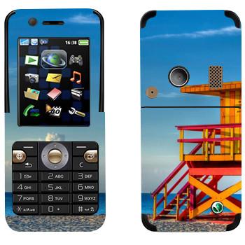 Виниловая наклейка «Пост спасателя на пляже Майами» на телефон Sony Ericsson K530i