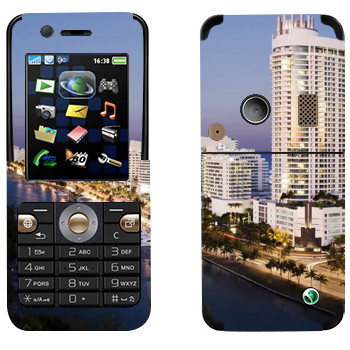 Виниловая наклейка «Вид на Майами» на телефон Sony Ericsson K530i
