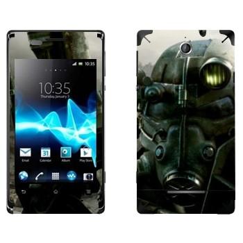 Виниловая наклейка «Fallout 3 — Убежище» на телефон Sony Xperia E/Xperia E Dual