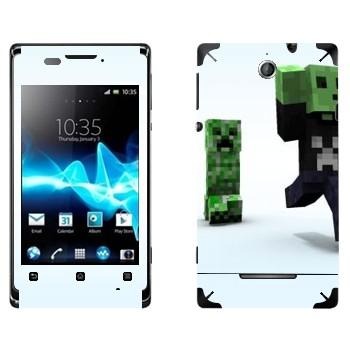 Виниловая наклейка «Minecraft крипер» на телефон Sony Xperia E/Xperia E Dual